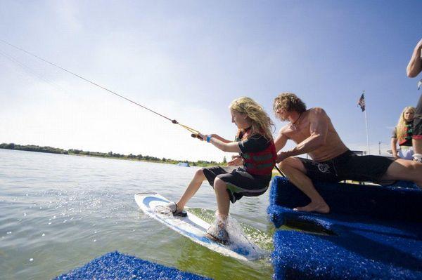Wasserski fahren auf dem Heeder See