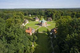 Schloss Clemenswerth aus der Luft