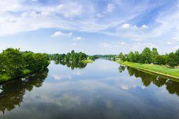 Ems und Dortmund-Ems-Kanal bei Lathen aus der Vogelperspektive