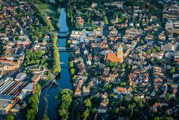 Luftaufnahme der Stadt Rheine