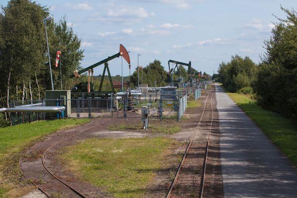 Ölnicker im Erdöl-Erdgas-Fördergebiet Rühlerfeld