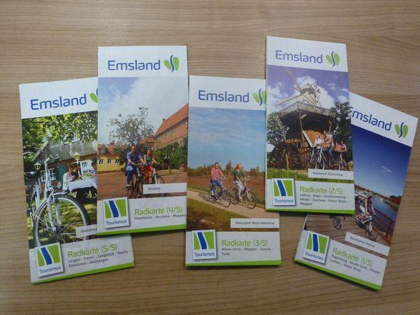 Emsland-Radkarten der fünf Landschaftsräume mit 60 Touren