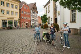 Warendorf – Radfahrer in Innenstadt