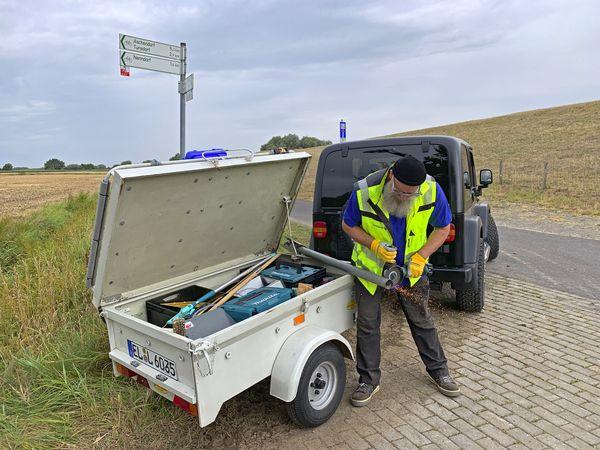 Radroutenwart Jürgen Broer (Emsland-Nord) in Aktion