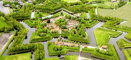 Festung Bourtange – Luftaufnahme der sternförmigen Anlage