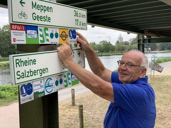Radroutenwart Klaus Groche (Emsland-Süd)