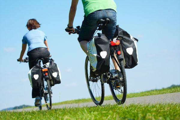 Radfahrer unterwegs im Münsterland