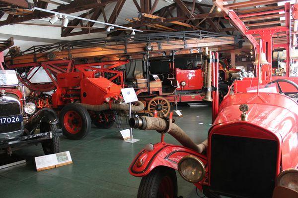 Feuerwehrmuseum Salzbergen - Blick in Ausstellungshalle