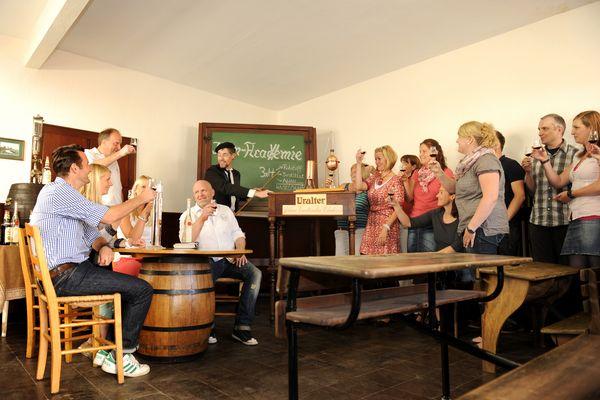 Edelkorn-Brennerei Jos. Rosche in Haselünne – Gruppe während Korn-Academie