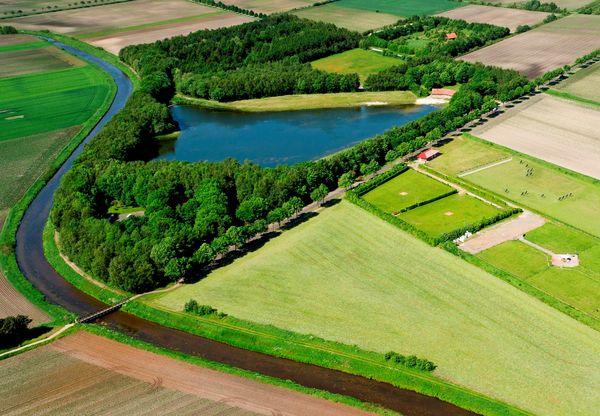 Erikasee bei Esterwegen aus der Vogelperspektive