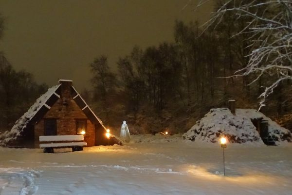 Spökenkieker-Tour auf der Von-Velen-Anlage in Papenburg im Winter