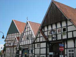 Wiedenbrück - Blick auf Fachwerkhäuser