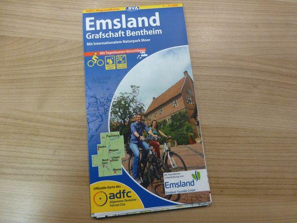 ADFC-Regionalkarte Emsland mit Grafschaft Bentheim und Naturpark Moor (BVA)