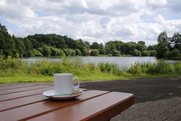 Erholungsgebiet Saller See - Kaffeepause am See